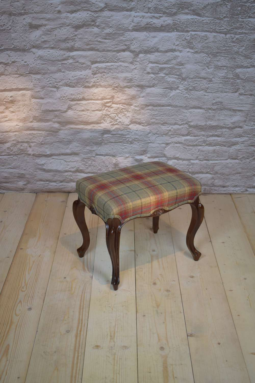 19th Century Rosewood Cabriole Leg Stool