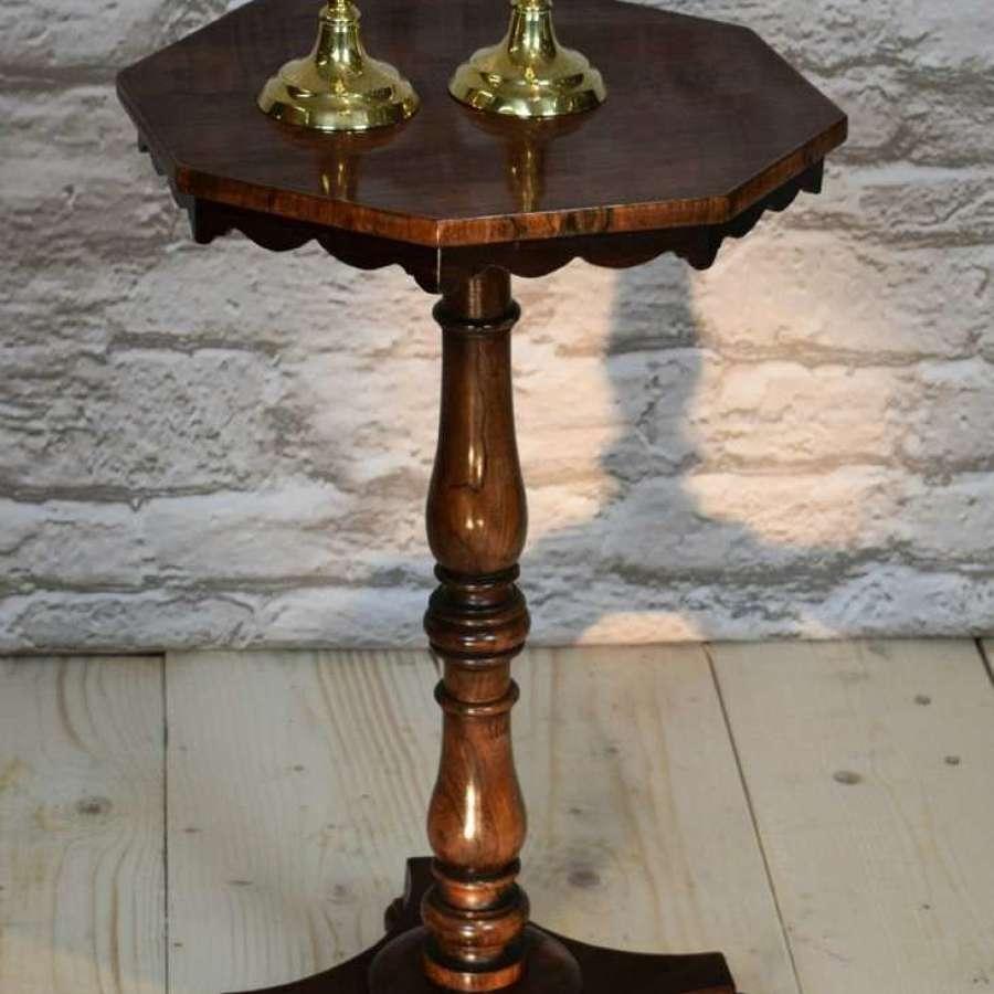 A Regency 19th Century Rosewood Octagonal Wine Table.
