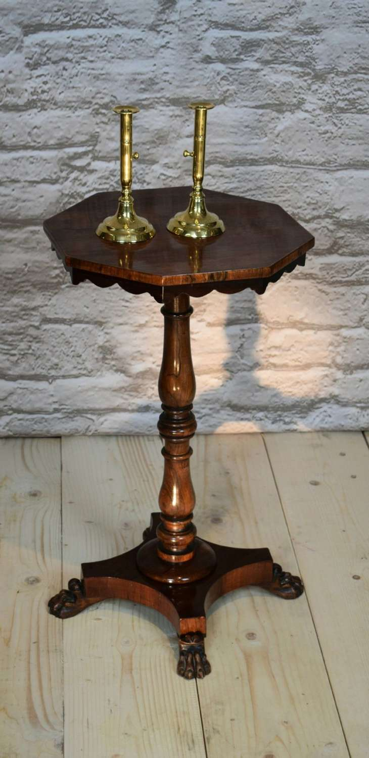 A Regency 19th Century Rosewood Octagonal Wine Table.