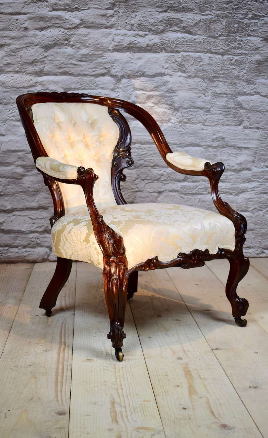 19th century rosewood armchair.